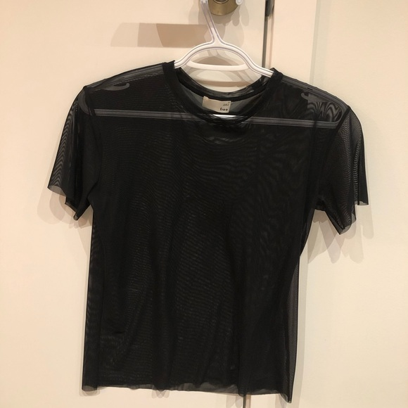 Wilfred free black mesh shirt